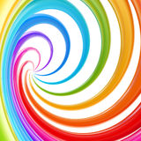 Abstract swirl background made of twirls. Abstract swirl rainbow background made of glossy twirls Stock Image