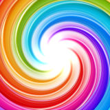 Abstract swirl background made of twirls. Abstract swirl rainbow background made of glossy twirls stock illustration