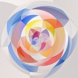 Abstract swirl background - pastel full color spectrum colored - white and gray Stock Photography