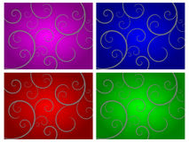 Abstract Swirl Background Sets Royalty Free Stock Photography
