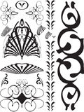 Abstract swirl black. A collection of black swirls and gothic designs vector illustration
