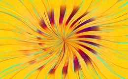 Abstract swirl bright background in orange color. Yellow abstract background of lucici waves royalty free illustration