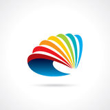 Abstract swirl business icon.  Royalty Free Stock Photo
