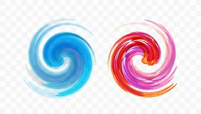 Abstract swirl design element. Spiral, rotation and swirling movement. Vector illustration with dynamic effect.  vector illustration