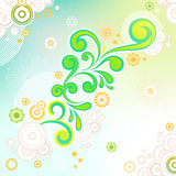 Abstract swirl floral background Stock Image