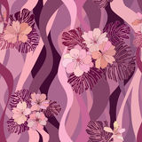 Abstract swirl flower seamless Texture Royalty Free Stock Images
