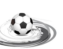 Abstract swirl football Royalty Free Stock Images