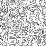 Abstract swirl line doodle seamless pattern. Wooden wave texture Stock Photo