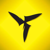 Abstract swirl logo. Wind energy symbol design. Propeller danger. Abstract swirl logo. Wind energy symbol design. Propeller  icon concept.  Circle bolt symbols Royalty Free Stock Photo