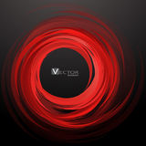 Abstract swirl red background. Vector Illustration. Clip-art Stock Photography
