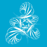 Abstract swirl retro pattern. Vector illustration on blue background royalty free illustration
