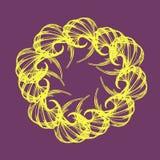 Abstract swirl retro pattern. Vector illustration on purple background stock illustration