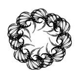 Abstract swirl retro pattern. Vector illustration on white background stock illustration