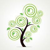 Abstract swirl tree background Royalty Free Stock Photo