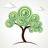 Abstract swirl tree background Stock Photo