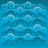 Abstract swirl wave blue background Royalty Free Stock Photography