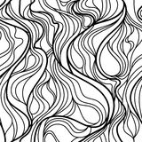 Abstract Swirling Seamless Black and White Tile Stock Photos