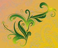 Abstract swirls. Abstract theme with botanical swirls Royalty Free Stock Photo