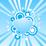 Abstract swirls background with cloud shape frame. Vector illustration Stock Image