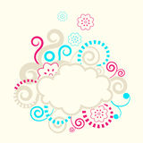 Abstract swirls background frame. Stock Photos