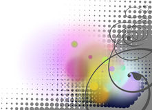 Abstract swirls and circles pattern background Royalty Free Stock Images