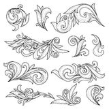 Abstract swirls page ornaments Stock Photography