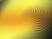 Abstract swirls yellow halftone background.  Stock Photos