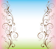 Abstract swirly background. Background with swirls in different colours royalty free illustration