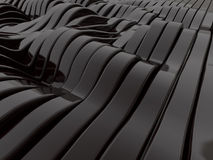Abstract swirly black shapes background. 3D Stock Image