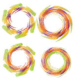 Abstract swirly circles logo Stock Image