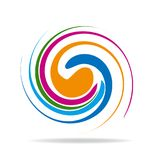 Abstract swirly colors icon. Design illustration Vector Illustration