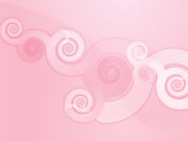 Abstract swirly floral grunge illustration Stock Images