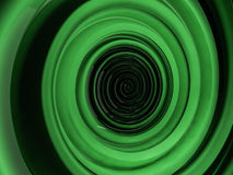 Abstract swirly green shape on black background. 3D Royalty Free Stock Photos