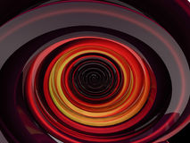 Abstract swirly red shape on black background. 3D Royalty Free Stock Image