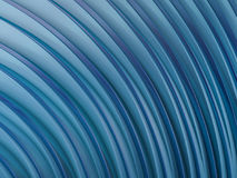 Abstract swirly shape blue background. 3D. Rendering Stock Image