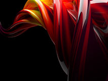 Abstract swirly shape on transparent background. 3D Stock Image