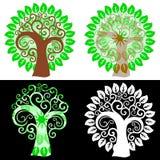 Abstract swirly trees Stock Photos