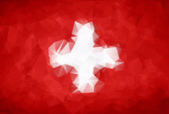 Abstract Switzerland flag polygon Stock Images