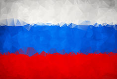 Abstract Russia flag polygon Stock Images