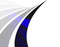 Abstract Swoosh Layout. An abstract design template with blue swoosh lines and plenty of copyspace Royalty Free Stock Photography