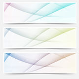 Abstract swoosh line header web footer set Royalty Free Stock Images