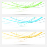 Abstract swoosh lines bright banners collection Royalty Free Stock Photos