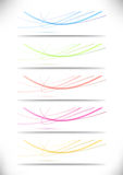 Abstract swoosh lines namecards collection for bus Royalty Free Stock Photo