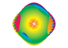 Abstract symbol. In rainbow colors isolated over white Stock Images