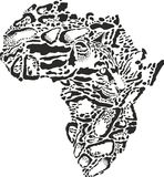 Abstract symbol Africa in Clouded leopard camouflage Stock Photography