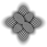 Abstract symbol 3d black and white Royalty Free Stock Image