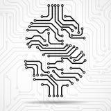Abstract symbol dollar of circuit board. Vector royalty free illustration