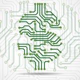 Abstract symbol dollar of circuit board. Vector stock illustration