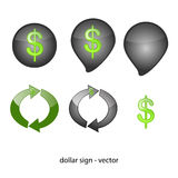 Abstract symbol - dollar Royalty Free Stock Image