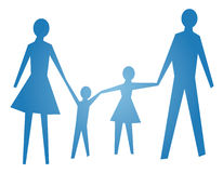 Abstract symbol of happy family  Royalty Free Stock Image